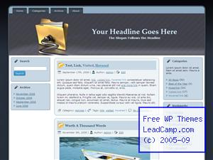 Powered Work Documents Free WordPress Template / Themes