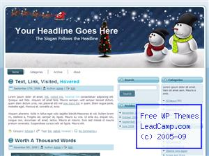 Snowman Xmas Winter Free WordPress Template / Themes