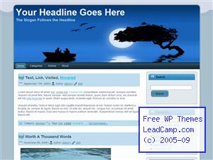 Evening Rowboat Chat Free WordPress Template / Themes