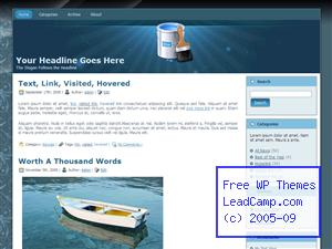 Time To Paint Blue Free WordPress Template / Themes