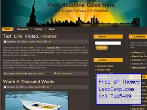 Sunrise City Free WordPress Template / Themes