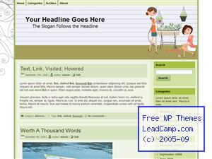 Friendship Gardening Project Free WordPress Template / Themes
