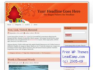 Red Christmas Tree Gifts Free WordPress Template / Themes