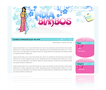 Free Adult Wordpress Theme: Indian Bimbos