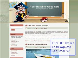 Higher Education Is Fun Free WordPress Template / Themes
