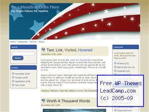 Patriotic American Flag Free WordPress Template / Themes