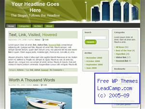Tall Buildings Free WordPress Template / Themes