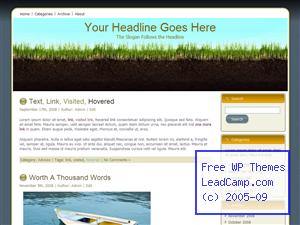 Garden Soil And Grass Free WordPress Template / Themes