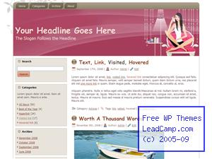 Purple Home Relaxation Free WordPress Template / Themes