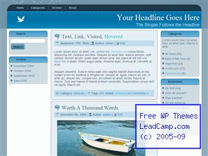 White Dove Blue Free WordPress Template / Themes
