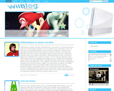 Download Nintendo themes and templates