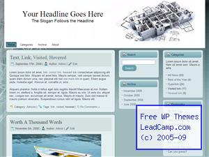 House Blueprint Construction Free WordPress Template / Themes