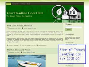 Eco Green House Free WordPress Template / Themes