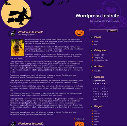 Helloween WordPress Theme
