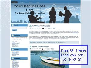 Business Brainstorm Session Free WordPress Template / Themes