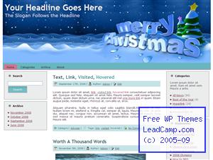 Winter Merry Christmas Free WordPress Template / Themes
