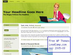 Ready To Talk Business Free WordPress Template / Themes