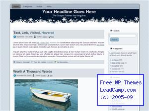 Blue Christams Snow Free WordPress Template / Themes