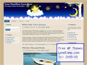 Happy Stars On Clouds Free WordPress Template / Themes