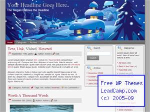 Snow Town Xmas Free WordPress Template / Themes