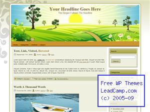Sunrise Over Hills Free WordPress Template / Themes