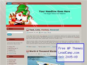 Santa Xmas Gift List Free WordPress Template / Themes