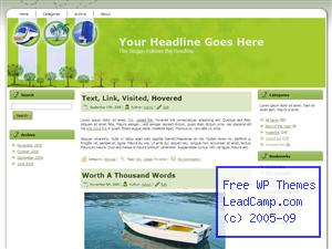 Busy Green Travels Free WordPress Template / Themes
