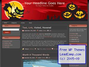Goofy Jack O Lanterns Free WordPress Template / Themes