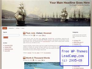 Colonia Harbor Ships Free WordPress Template / Themes