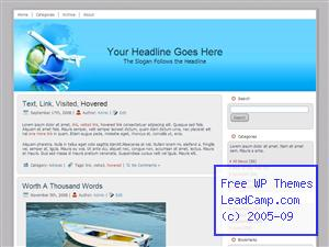 Global Air Travels Free WordPress Template / Themes