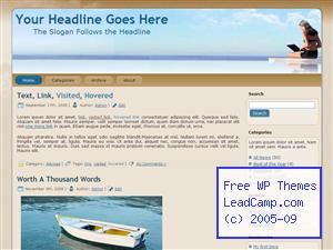 Work On Vacation Free WordPress Template / Themes