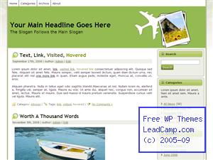 Green Travel Plans Free WordPress Template / Themes
