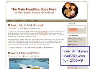 Couple Movie Date Night Free WordPress Template / Themes