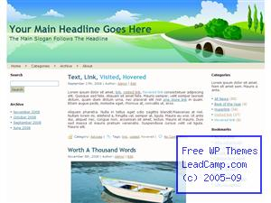 Bridge By The Waters Free WordPress Template / Themes