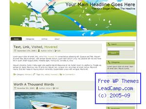 Spring Nordic Winds Free WordPress Template / Themes