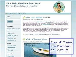 Tropic Summer Dance Free WordPress Template / Themes