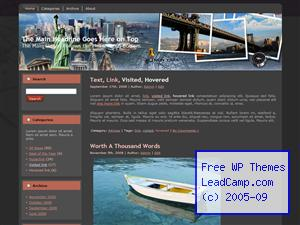 Postcards From New York Free WordPress Templates / Themes