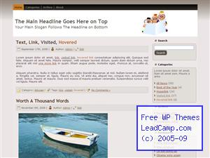 Family Reading Time Free WordPress Templates / Themes