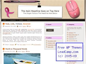 Pink Computer Mouse Free WordPress Templates / Themes