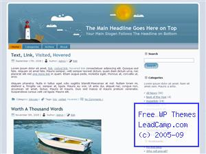 Lighthouse On An Island Free WordPress Templates / Themes