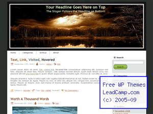 Sun Emergence Clounds Free WordPress Templates / Themes