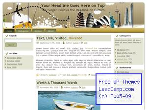 Travels Around The World Free WordPress Templates / Themes