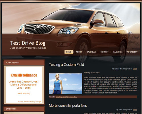 Brown Car Theme