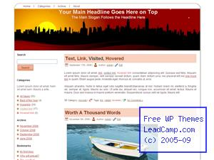 Red City Shadow Glow Free WordPress Templates / Themes