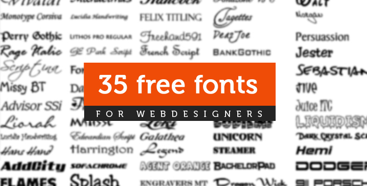 35 Beautiful & Fresh Free Fonts for WordPress Themes Design